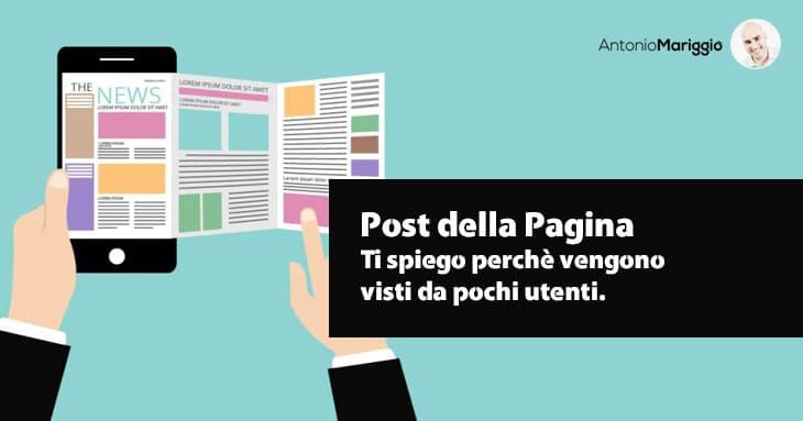 Read more about the article Post della pagina: perchè vengono visti da pochi utenti?