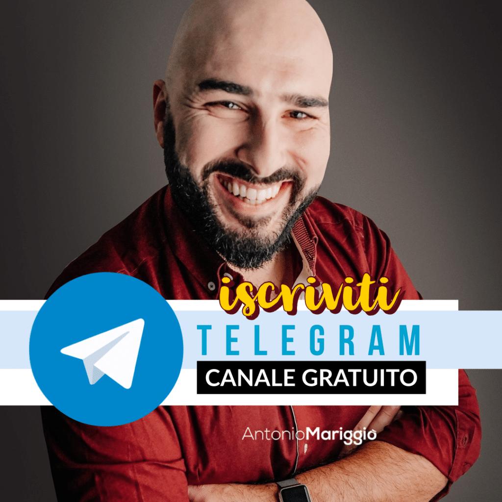 Antonio Mariggiò | Canale Telegram Gratuito